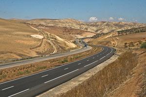Vue de l'autoroute Rabat-Tanger