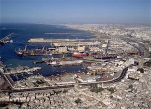 Vue aérienne de Casablanca